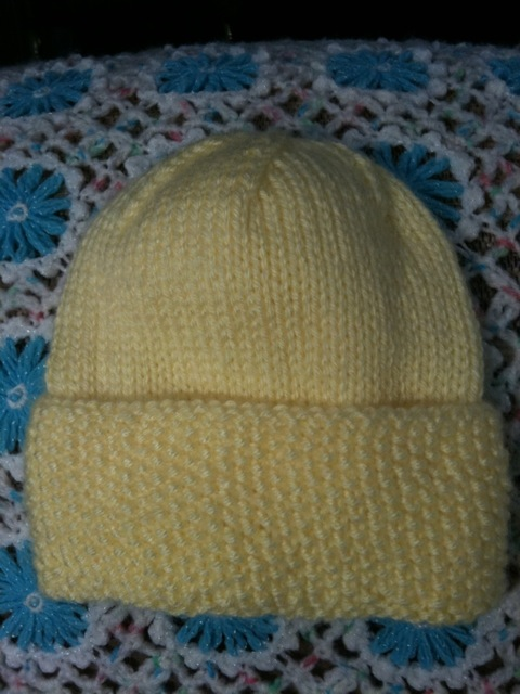 Seed Stitch Baby Hat picture